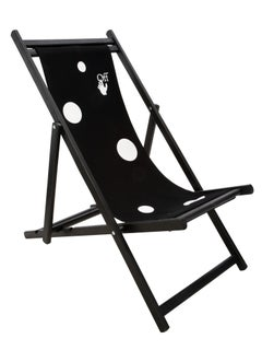 Off-White Deck Chair Black White
