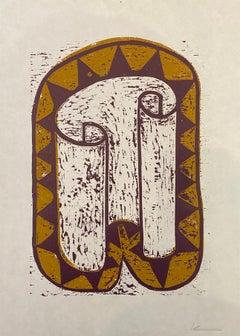 Hy-brasil - Declan Jenkins, Contemporary art, Woodcut print