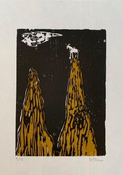 The Goat - Declan Jenkins, Contemporary Art, Woodcut, Prints