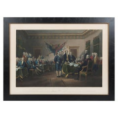 """Declaration of Independence July 4, 1776"" by W. L. Ormsby, Antique Print, 1876"