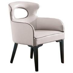 Decò Black and White Armchair