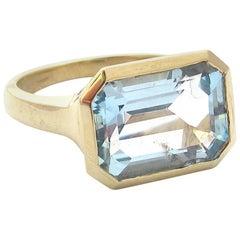 Jacqueline Rose Deco Blue Topaz Ring