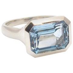 Jacqueline Rose Deco Blue Topaz Silver Ring