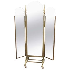 Deco Brass Dressing Mirror