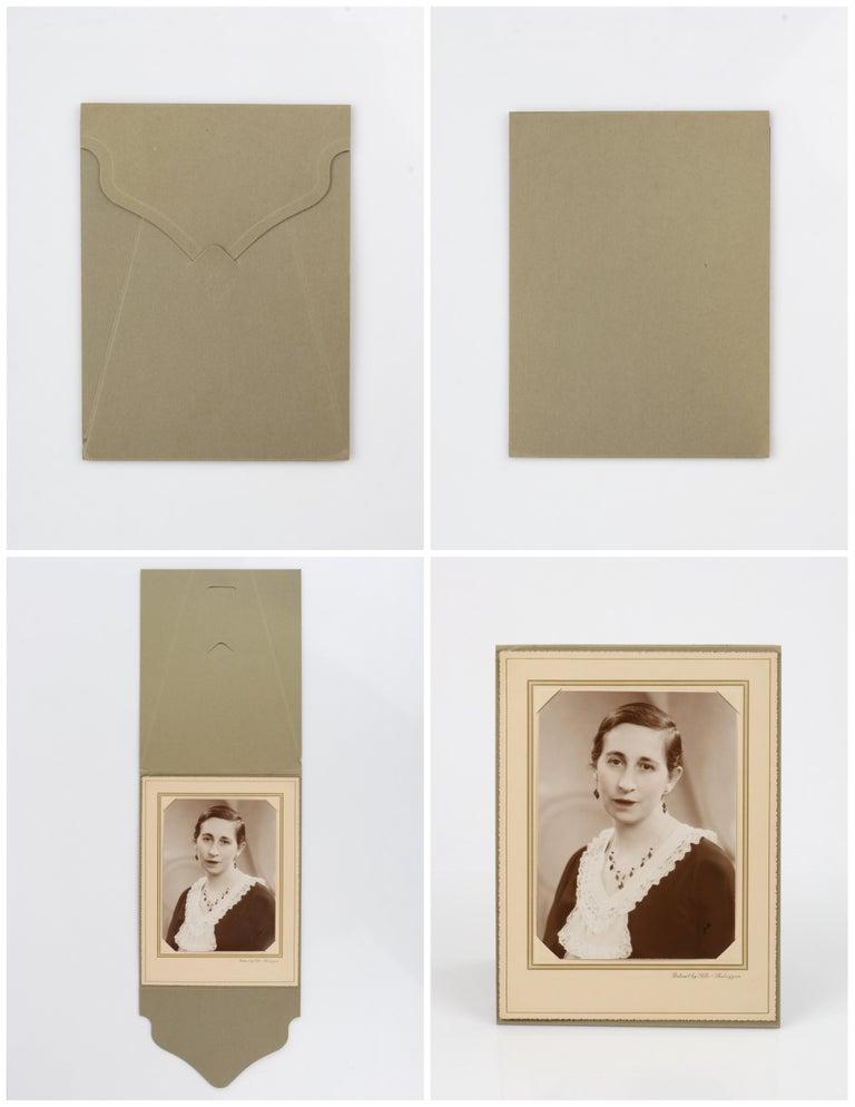 Deco c.1920s OOAK Sterling Ruby Red Onyx Necklace Drop Earring Set + Portrait For Sale 6