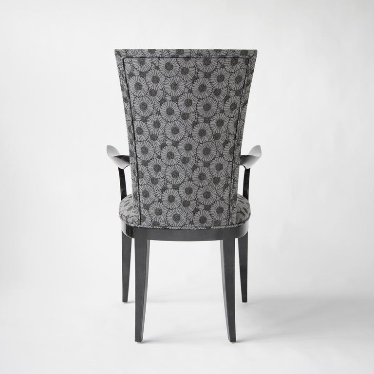 Modern Deco Chair with Armrests For Sale