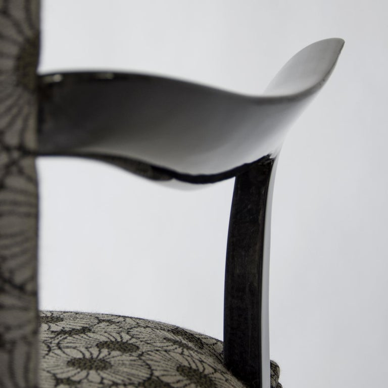 Italian Deco Chair with Armrests For Sale