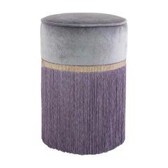 Decò Couture Geometric Purple Ottoman