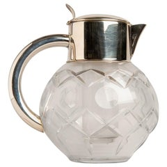 Déco Crystal English Carafe with Ice Container