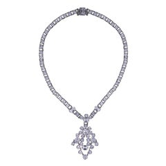 Deco Crystal Necklace with Pendant