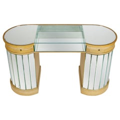 Deco Curved Mirrored Dressing Table