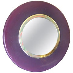 Deco Eggplant Colored Bakelite Vanity Mirror