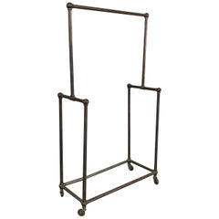 Deco Era Tubular Iron Rolling Garment Rack