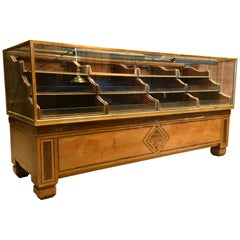 Deco Inlaid Mercantile Display Case with Shelves