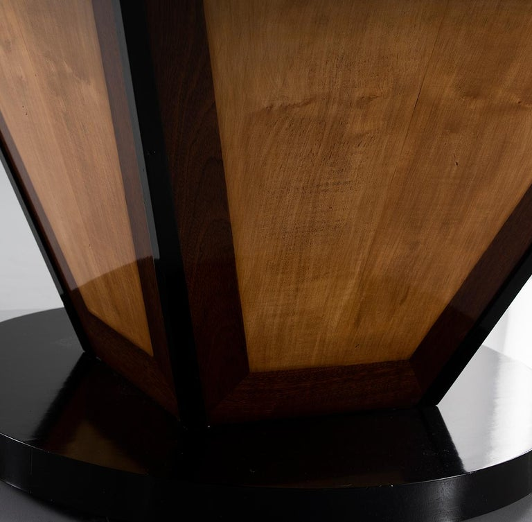 Art Deco Deco-Inspired Italian Marble Dining Table with Custom Made Base For Sale