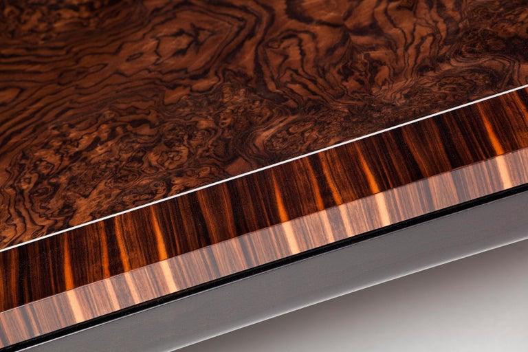 Art Deco Deco-Inspired, Macassar Ebony Side Table For Sale
