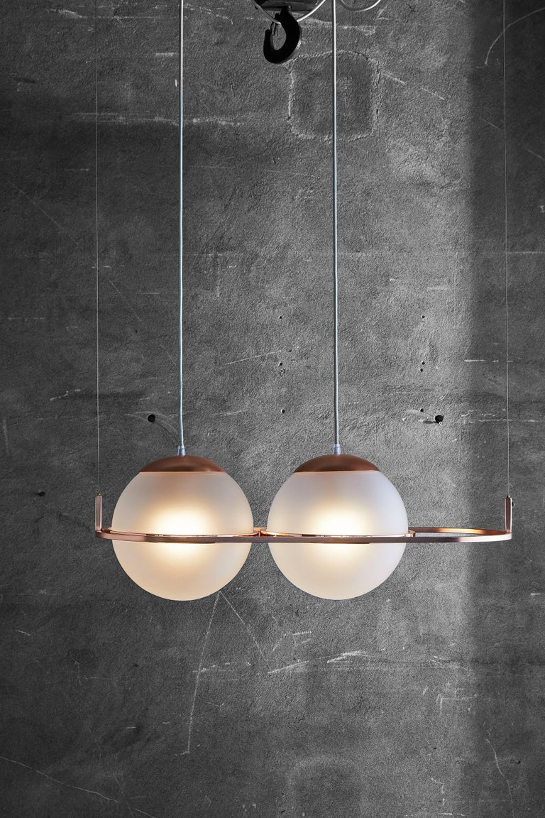 Polished Deco Lamp by Federica Biasi for Mingardo For Sale