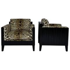 Deco Leopard Club Chairs