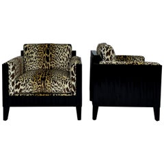 Deco Leopard Club Chairs