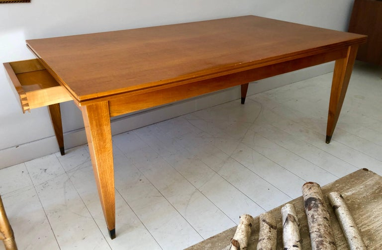 Mid-Century Modern Deco Modern Italian Library or Dining Table For Sale