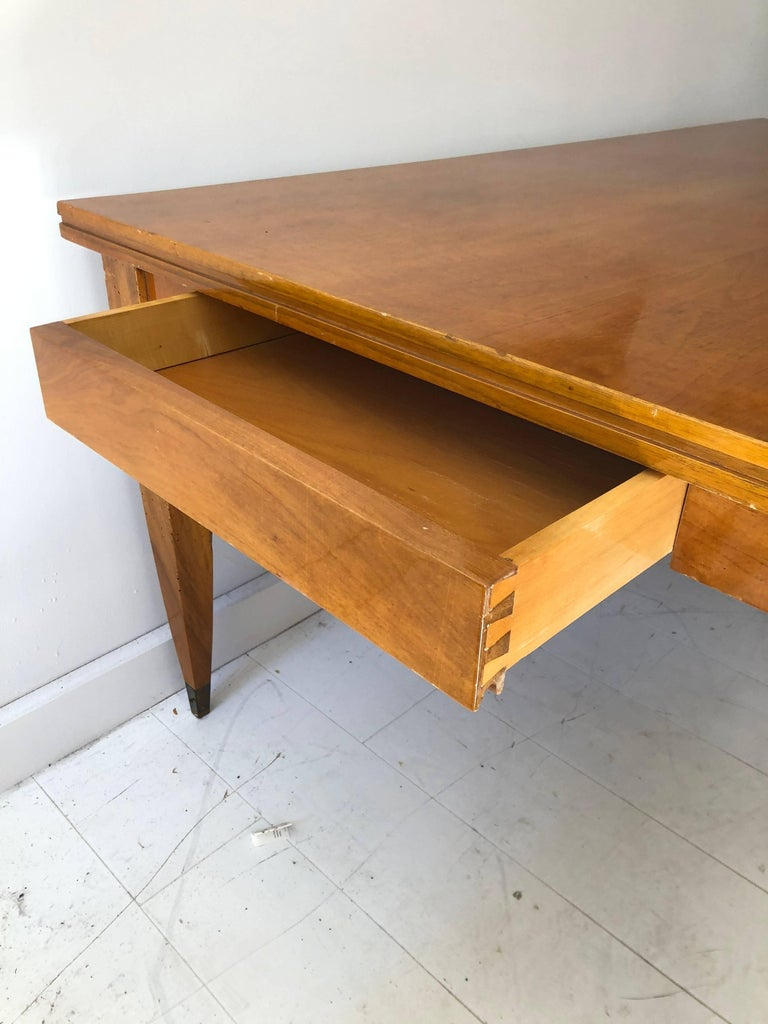 Deco Modern Italian Library or Dining Table In Good Condition For Sale In Hudson, NY