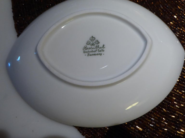Deco Modern Rosenthal Oval Pattern by Rudolf Lunghard Espresso Moka Coffee Set In Good Condition For Sale In Miami, FL