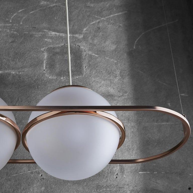 Italian Decò Pendant Lamp by Mingardo For Sale