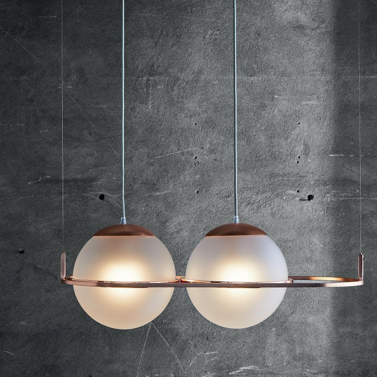 Decò Pendant Lamp by Mingardo In New Condition For Sale In Milan, IT