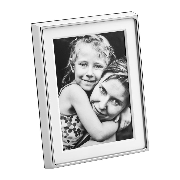 Deco Picture Frame in Stainless Steel Mirror Finish by Georg Jensen For Sale