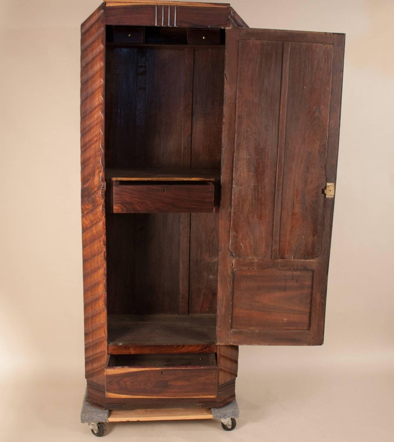 Art Deco Rosewood Wardrobe with Mirror For Sale 9