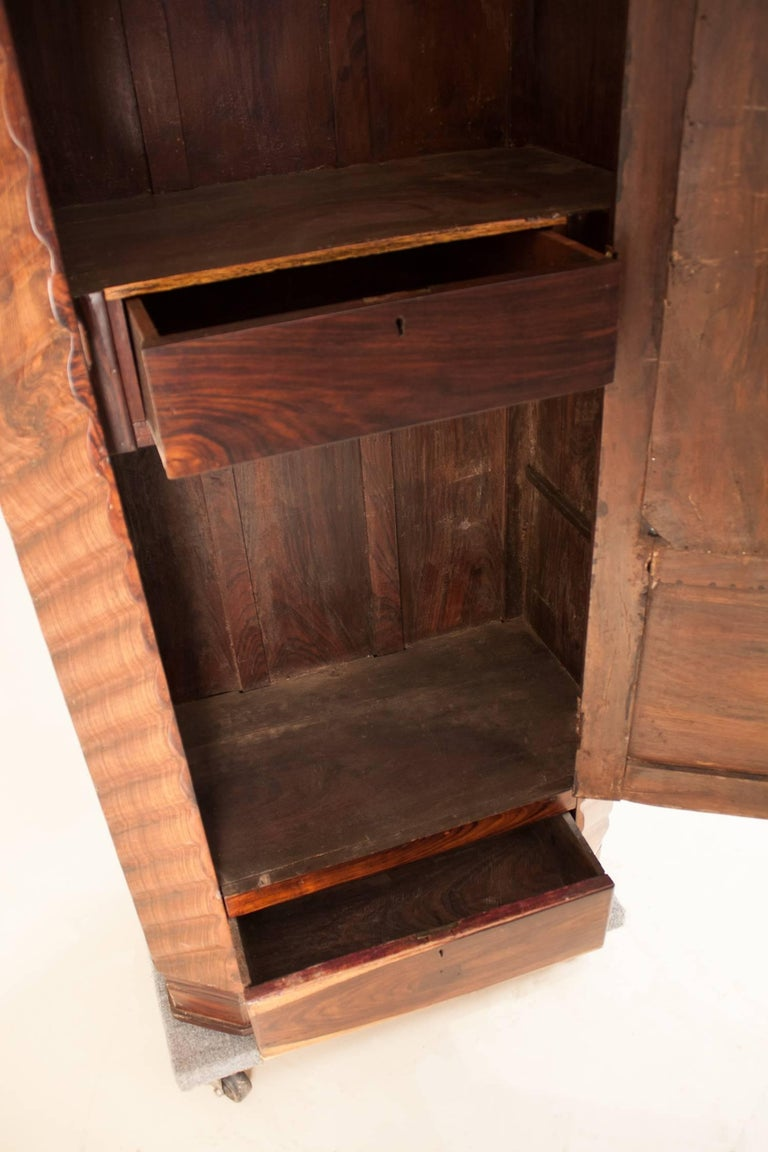 Art Deco Rosewood Wardrobe with Mirror For Sale 10