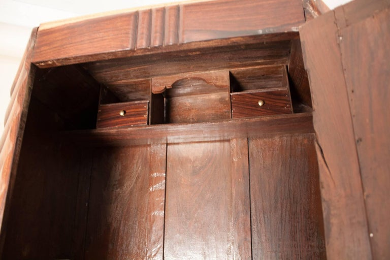 Art Deco Rosewood Wardrobe with Mirror For Sale 11