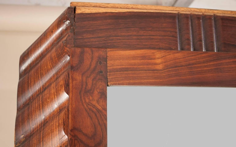 Art Deco Rosewood Wardrobe with Mirror In Good Condition For Sale In Shelburne Falls, MA