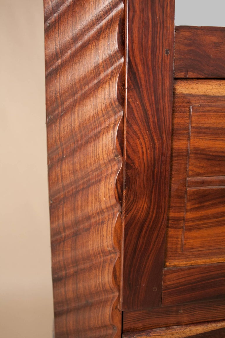 Art Deco Rosewood Wardrobe with Mirror For Sale 1
