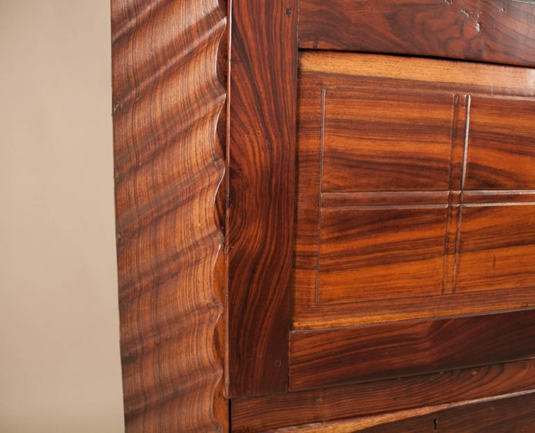 Art Deco Rosewood Wardrobe with Mirror For Sale 2