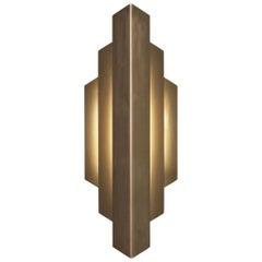 Deco Sconce, Gold Vertical Geometric Modern LED Sconce Light Fixture