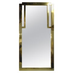 Deco Style Brass Frame Mirror