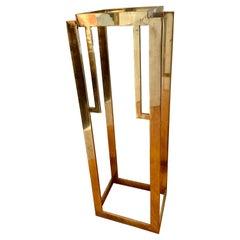 Deco Style Brass Pedestal Art Stand