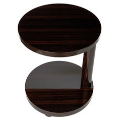 Deco Style Macassar Ebony Adjustable Side Table by Hugues Chevalier