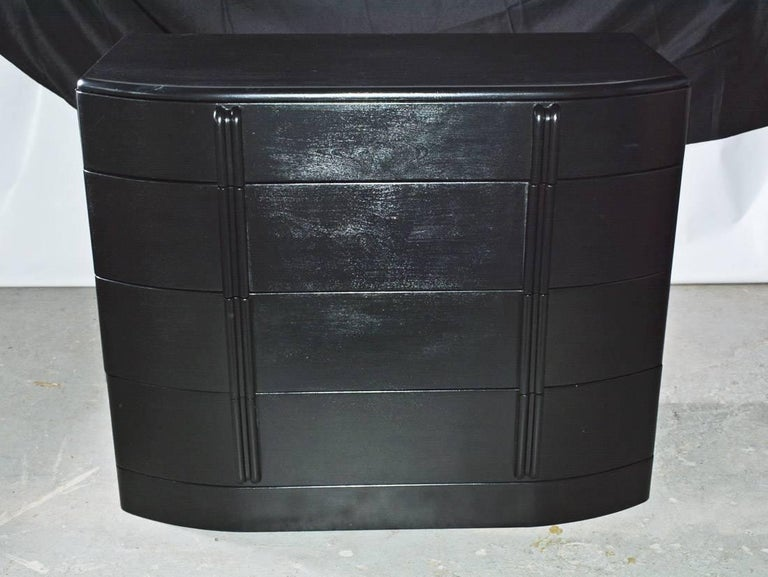 Streamlined Moderne Deco Style Painted Chest of Drawers For Sale