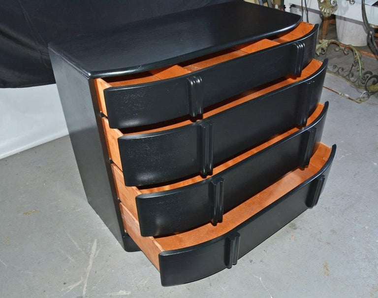 American Deco Style Painted Chest of Drawers For Sale