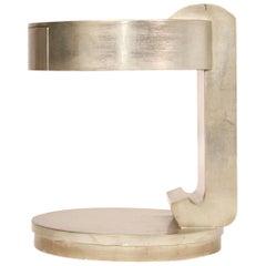 Deco Style Silver Gilt Cantilever Table