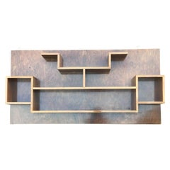 Deco Wall Mounted Shelving /Asymmetic Shelving /1930s Bookcase