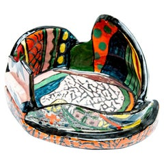 Deconstructed Jordan Bowl I Sculpture in Glazed Earthenware by Roberto Lugo