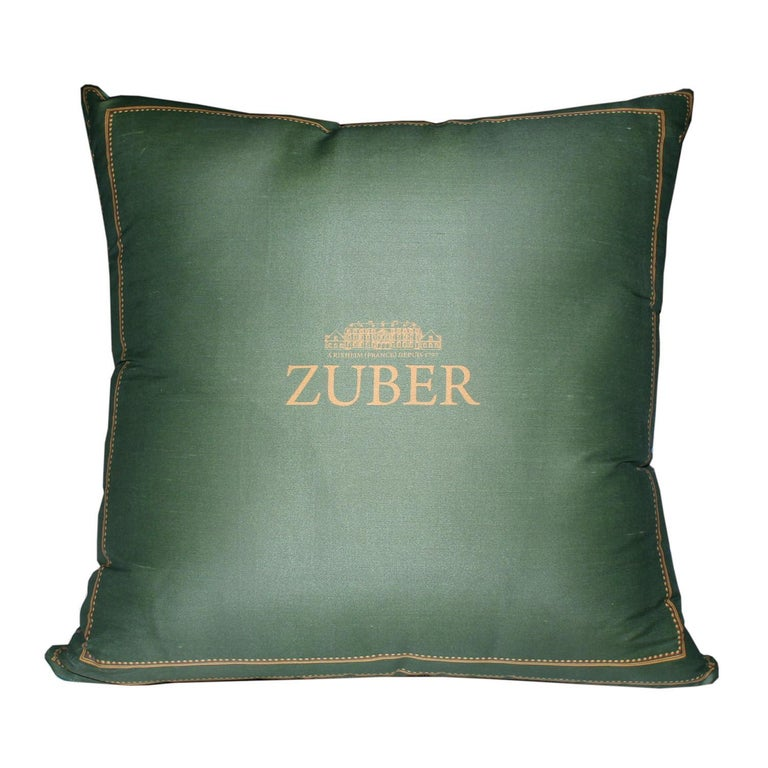 Decor Chinois pillow blue and wall hanging by Zuber. 