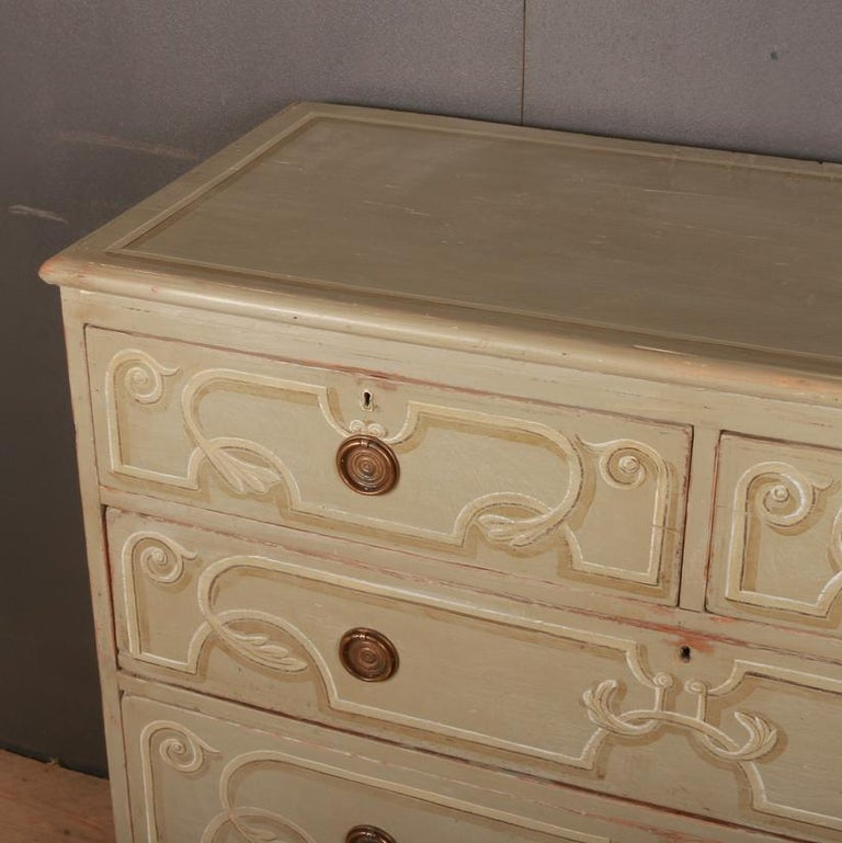 Decorated Chest of Drawers In Good Condition For Sale In Leamington Spa, Warwickshire