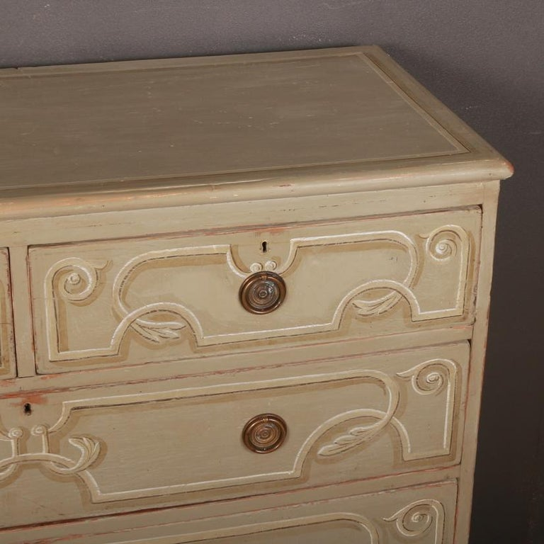 19th Century Decorated Chest of Drawers For Sale