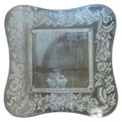 Decorated Mirror by Giovanni Gariboldi made by Quarti circa 1940's