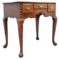 Decorative 18th Century Oak Lowboy