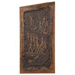 Decorative 1950s Copper Panel